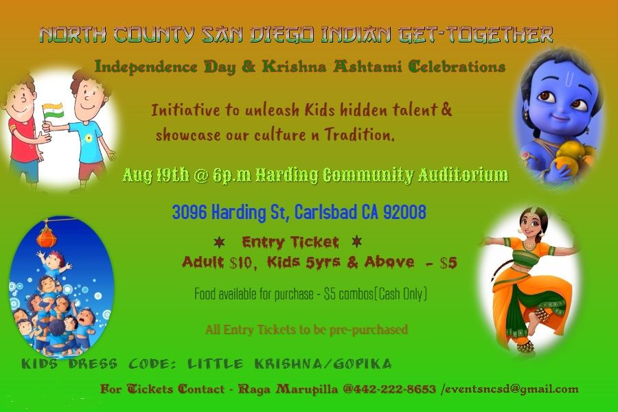 Independence Day & Krishna Ashtami Celebrations